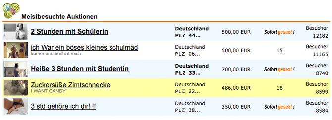 Erotik Auktion auf Gesext.de