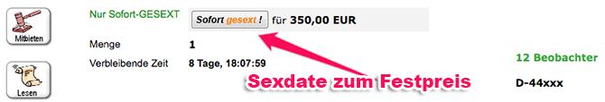 Sofort Sex Auktion zum Festpreis